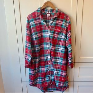 Land's End Plaid Nightgown